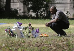 Terence Wright, at the site where Walter Scott was shot and killed by Officer MIchael Slager