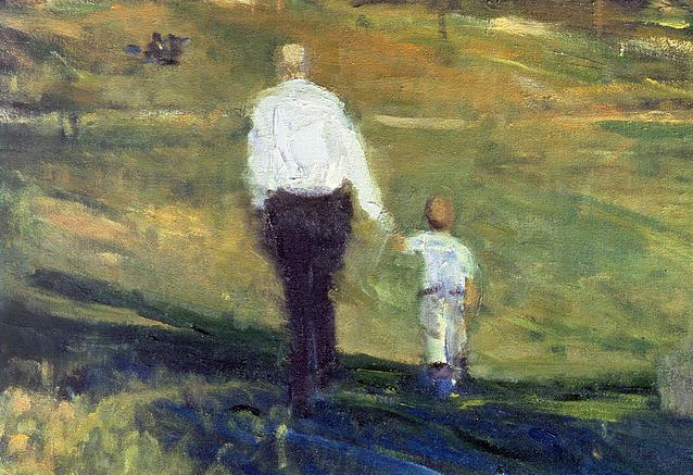 grandfather-and-grandson-1997-oil-on-canvas-patricia-espir